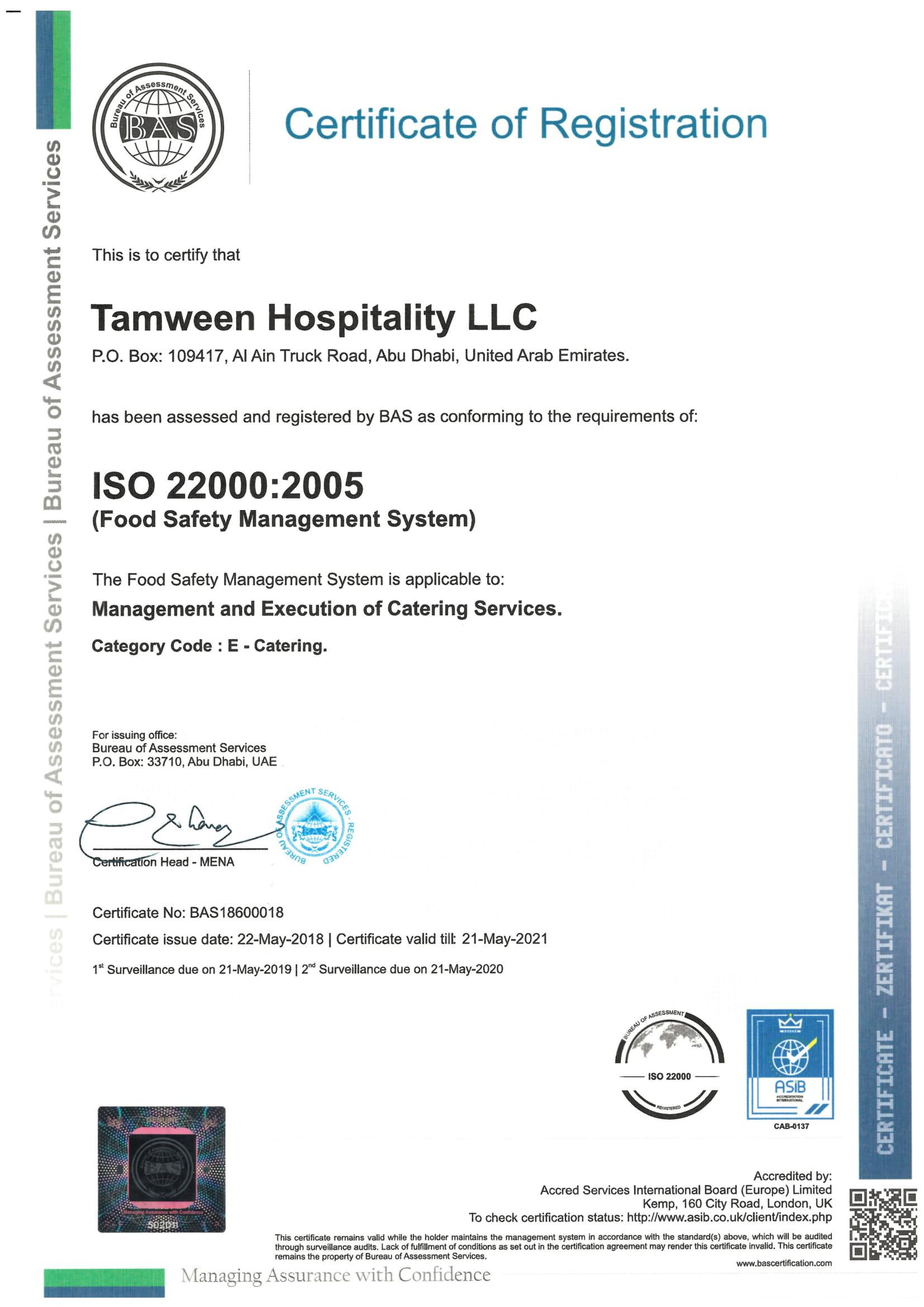 ISO 22000-2005 Certificate-Tamween-2018-2021-(21-05-2021)--1